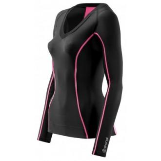 Skins Bio A200 Womens Black/Pink Top Long Sle