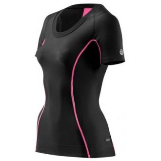 Skins Bio A200 Womens Black/Pink Top Short Sleeve