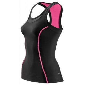 Skins Bio A200 Womens Black/Pink Racer back top
