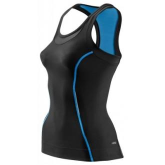 Skins Bio A200 Womens Black/Blue Racer back top