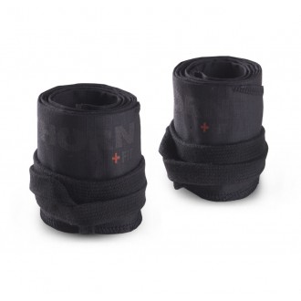 Pevný Ripstop Cotton Wrist Wraps Black