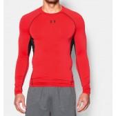 Pánské Kompresní tričko s dlouhými rukávy červené