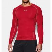 Pánské Kompresní tričko s dlouhými rukávy red