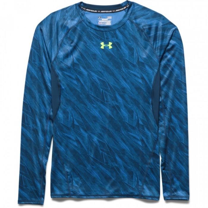Pánské kompresní triko Under Armour Printed modré