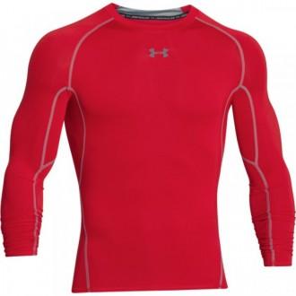 Pánské kompresní tričko Under Armour s dlouhými rukávy červené