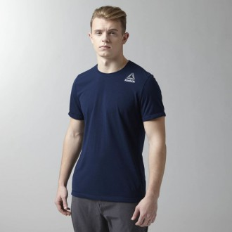 Pánské tričko Reebok Workout Ready Stacked Logo Supremium Tee AP4256 ... 4881a84596