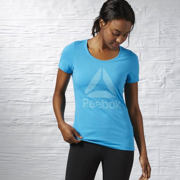 Dámské tričko Reebok Workout Ready Big Logo Supremium Tee Crew ... 59c0517ad5