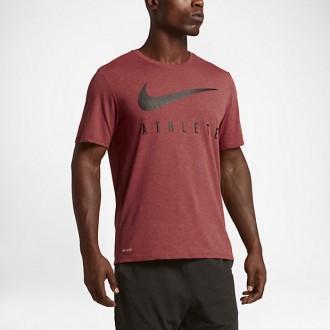 Pánské tričko Nike ATHLETE Dry Train - tmavě červené - BotyObleceni.cz d6fac101494