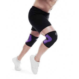 Bandáž kolene 3 mm - černá/fialová