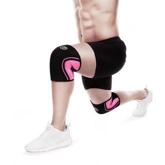 Bandáž kolene 5 mm - černá/růžová