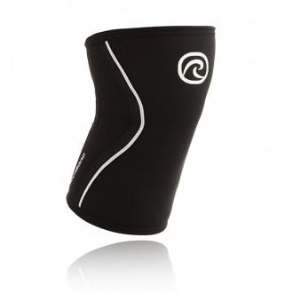 Bandáž kolene RX 7 mm - černá/bílé pruhy