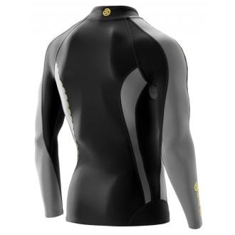 Pánské kompresní tričko SKINS DNAmic Thermal L/S Mock Neck Black/Pewter