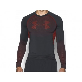 Pánské kompresní triko  UA HeatGear Armour Printed Long dlouhý rukáv