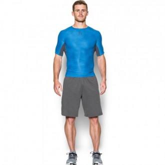 52674290c55 Pánské kompresní tričko Under Armour Printed light blue
