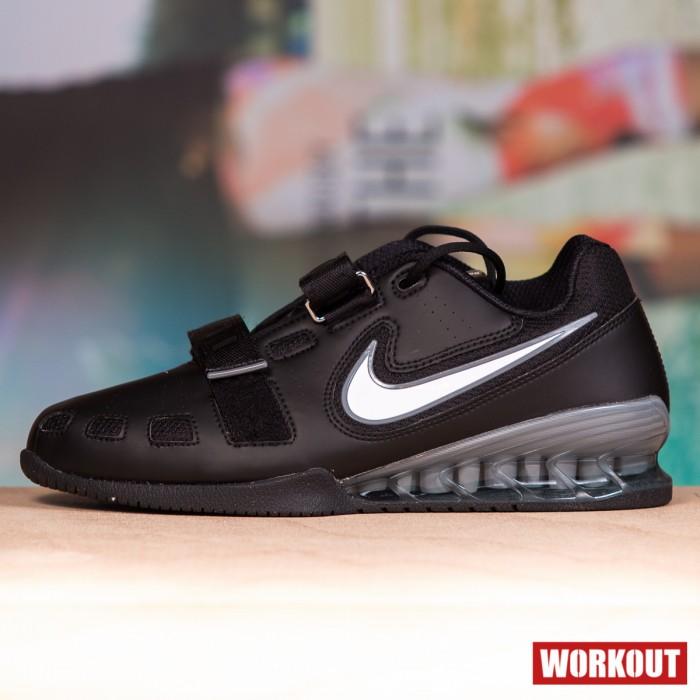 Pánské vzpěračky Nike Romaleos 2 Weightlifting Shoes - Black / Silver