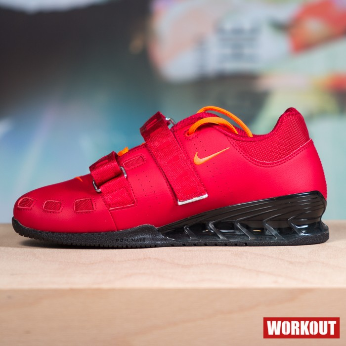Nike Romaleos 2 Weightlifting Shoes - Gym Red / Bright Crimson-Black
