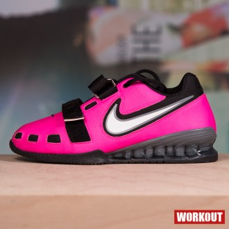 Nike Romaleos 2 Weightlifting Shoes - Pink Blast / White-Black Cool Grey