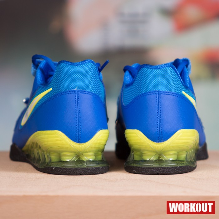 timeless design 0204a 65149 ... Nike Romaleos 2 Weightlifting Shoes - Hyper Cobalt   Electric Yellow- Black ...