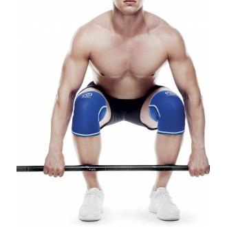 Bandáž kolene 7 mm - modrá s bílými pruhy