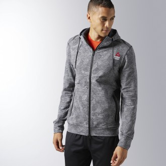 RCF FLEECE FULL ZIP BK1132
