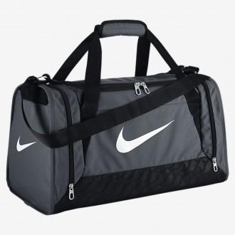 NIKE Sportovní taška BRASILIA 6 SMALL DUFFEL - Šedá
