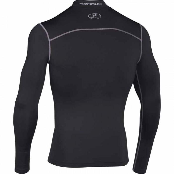 Pánské černé kompresní triko UA CG ARMOUR MOCK