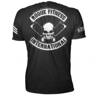 Pánské tričko Rogue International černo-bílé