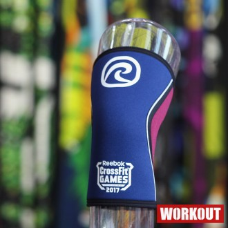 CrossFit Games bandáž kolene 5 mm - Navy/Burgundy