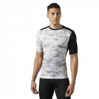 Pánské kompresní tričko Active Chill COMP TEE - CAMO BQ3442