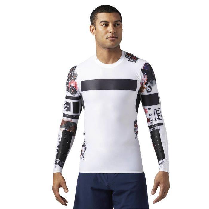 Pánské kompresní tričko CrossFit COMPRESSION LS TEE - BS1586