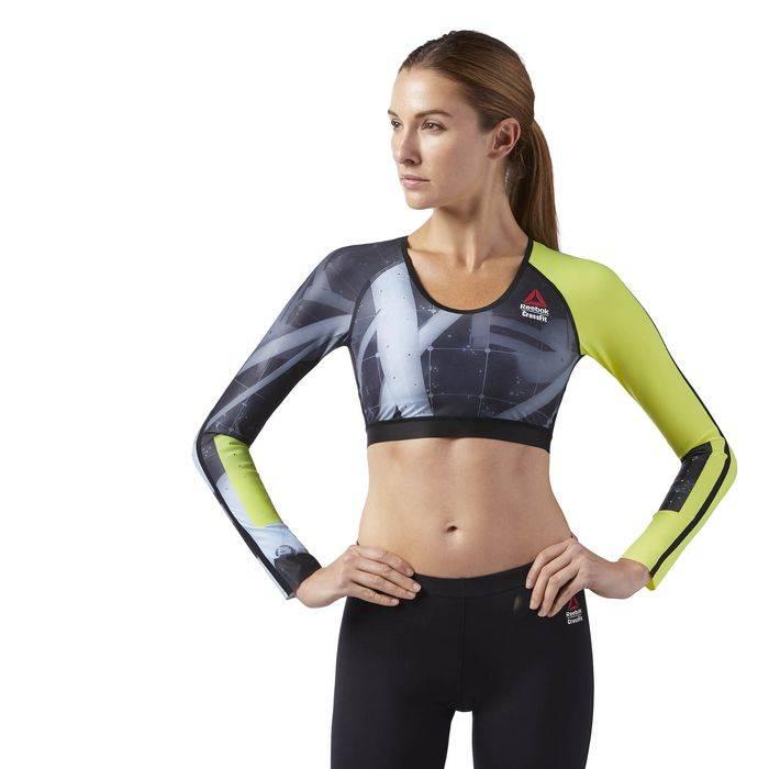 Dámské tričko CrossFit CROPPED COMP LS CD1399