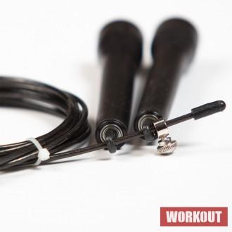 StrongGear Speed Rope švihadlo - černé