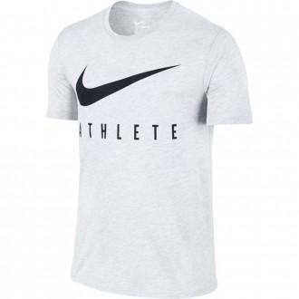 Pánské tričko Nike Swoosh Athlete - bílé