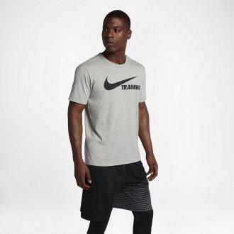 Pánské tričko Nike TRAINING SWOOSH - šedé