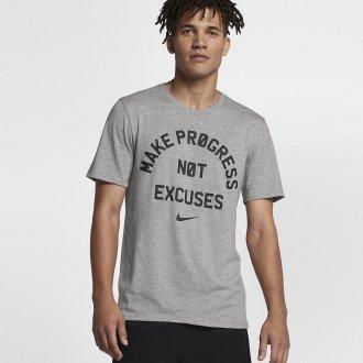 Pánské tričko Nike - NO EXCUSE - šedá