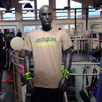 Pánské tričko adidas weightlifting gray