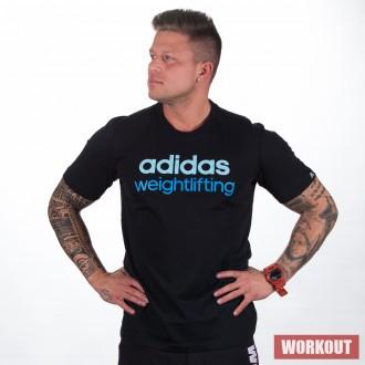 Pánské tričko adidas weightlifting black