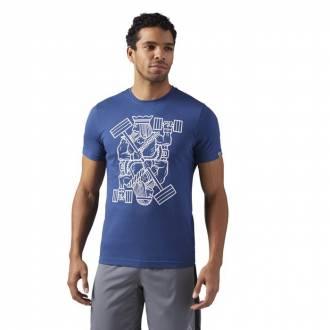 Pánské tričko KING OF TRAINING blue