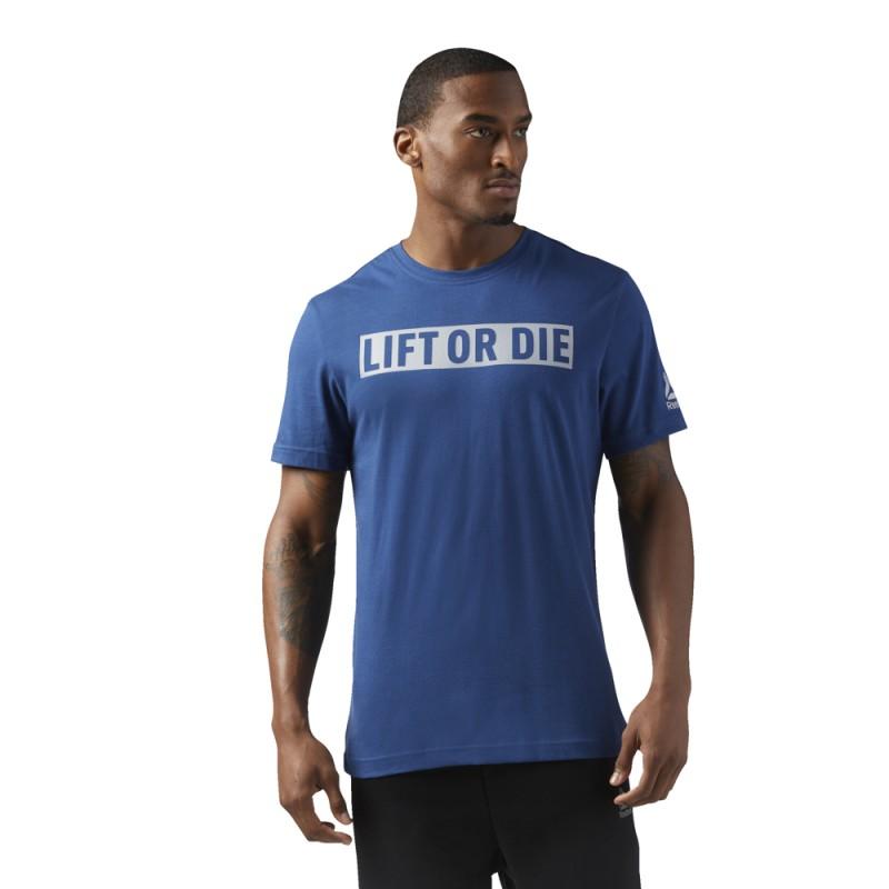 Pánské tričko LIFT OR DIE modré
