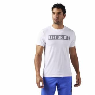 Pánské tričko LIFT OR DIE bílé