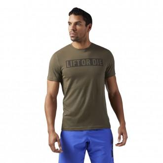 Pánské tričko LIFT OR DIE zelené