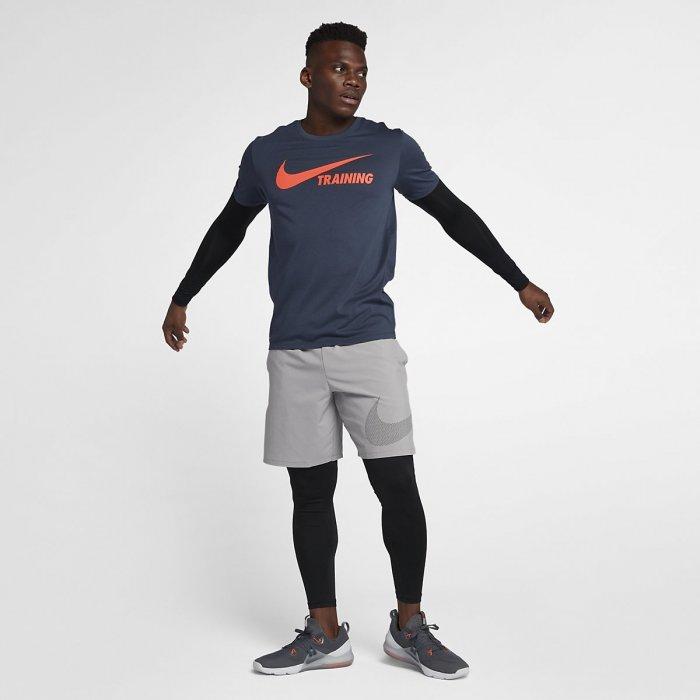 Pánské tričko Swoosh Training T-Shirt - modro oranžové