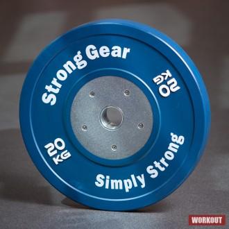 závodní bumper kotouč 20 kg modrý