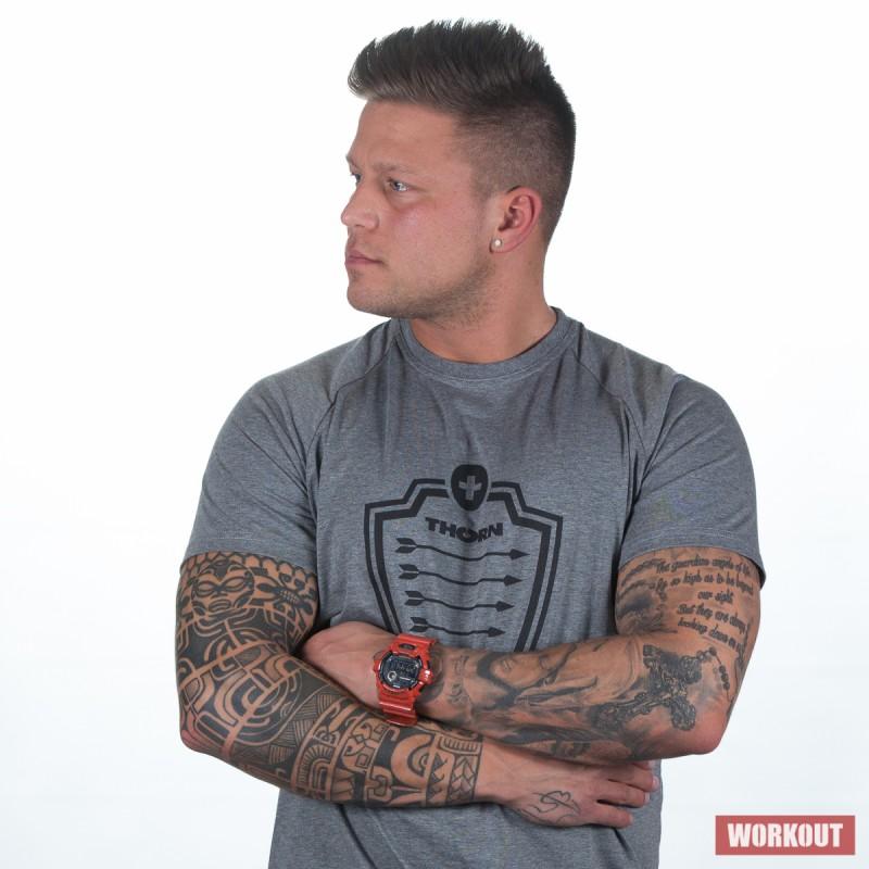 Pánské tričko ThornFit Arrow Gray