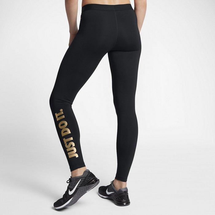 Dámské tréninkové legíny Nike black gold - BotyObleceni.cz 7e36bb6ffb