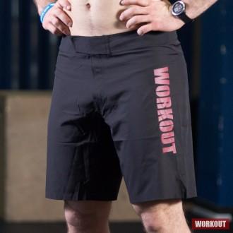 Pánské tréninkové šortky WORKOUT - černo červené