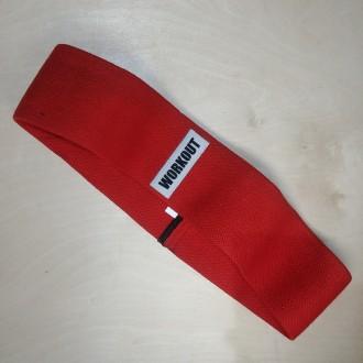 Textilní odporová guma / loop band WORKOUT červená