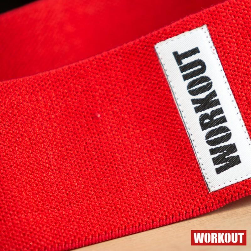 Textilní odporová guma / loop band WORKOUT- červená
