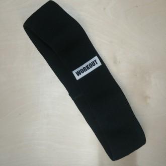 Textilní odporová guma / loop band WORKOUT černá