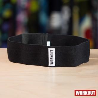 Textilní odporová guma / loop band WORKOUT - černá